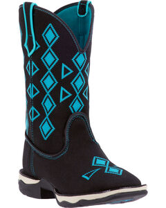 Laredo Women's Venturer Performair Woven Western Boots - Square Toe, Black, hi-res