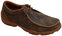 Twisted X Men's Bomber Brown Driving Mocs, , hi-res