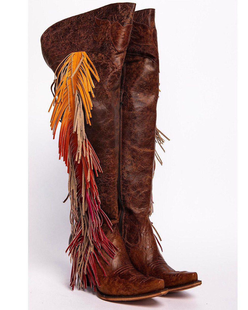 Junk Gypsy by Lane Women's Spirit Animal Tall Boots - Snip Toe , Brown, hi-res
