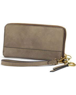 Frye Women's Suede Ilana Harness Phone Wallet , Grey, hi-res