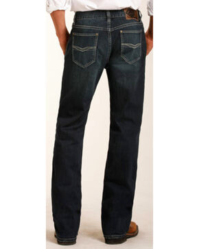 Rock & Roll Cowboy Men's Raised Denim Reflex Double Barrel Jeans -  Straight Leg, Indigo, hi-res
