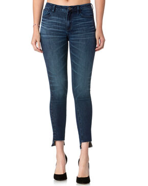 Miss Me Women's Cut It Out Mid-Rise Ankle Skinny Jeans , Indigo, hi-res