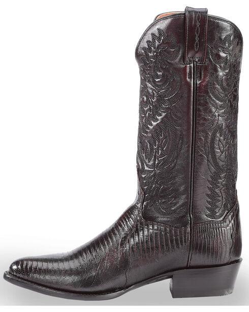 Dan Post Raleigh Cherry Lizard Cowboy Boots - Round Toe  , Black Cherry, hi-res