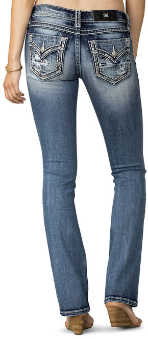 Miss Me Women's Breakthrough Distressed Pocket Jeans - Extended Sizes, Indigo, hi-res