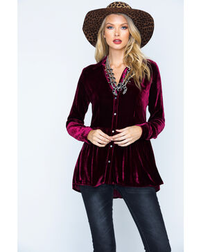 Ryan Michael Women's Silk Velvet Shirt , , hi-res