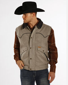 Powder River Outfitters Men's Holbrook Solid Wool Vest, Ash, hi-res
