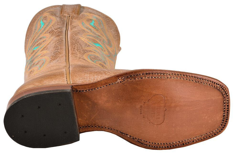 Nocona Honey Cowhide Cowgirl Boots - Square Toe, Honey, hi-res