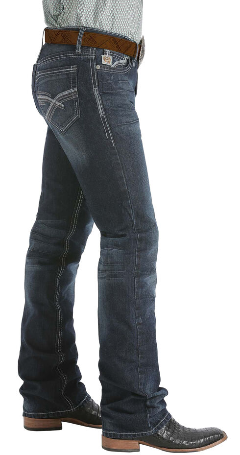 Cinch Ian Dark Stonewash Bootcut Jeans - Slim Fit , Dark Stone, hi-res