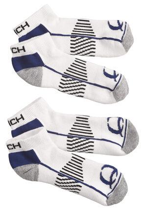 Cinch Men's White Athletic Ankle Socks (2-Pack), White, hi-res
