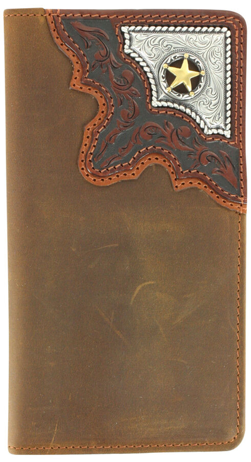 Cody James Men's Cowboy Way Wallet and Checkbook Cover, Brown, hi-res
