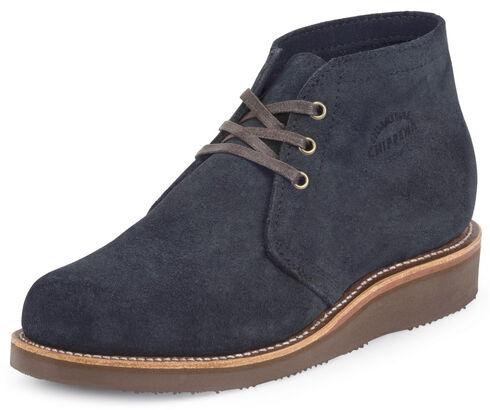 Chippewa Men's Modern Suburban Navy Suede Shoes, Navy, hi-res