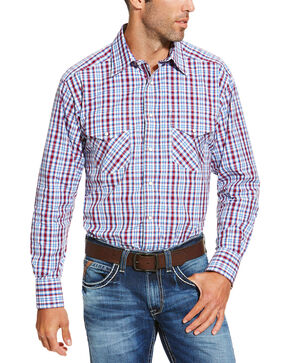 Ariat Men's Red Austin Snap Shirt, Red, hi-res