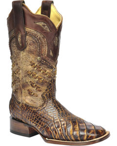 Corral Exotic Alligator Woven Cowgirl Boots - Square Toe, , hi-res