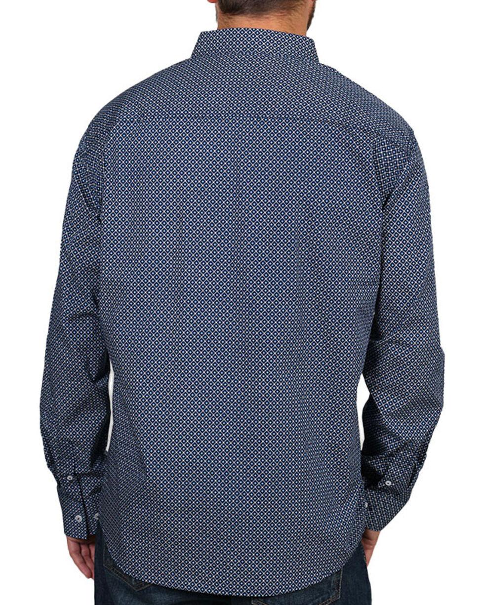 Cody James Men's Dot Patterned Long Sleeve Shirt, Navy, hi-res