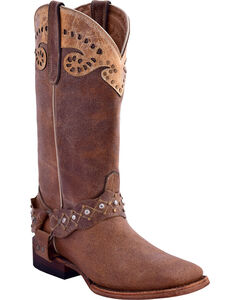 Ferrini Women's Outlaw Western Boots - Square Toe, Brown, hi-res