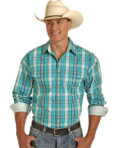 Panhandle Men's Poplin Plaid Shirt , , hi-res