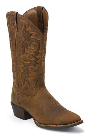 Justin Stampede Cowboy Boots - Medium Toe, Copper, hi-res