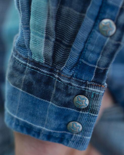 Ryan Michael Men's Lake Travis Plaid Shirt - Big and Tall, Indigo, hi-res