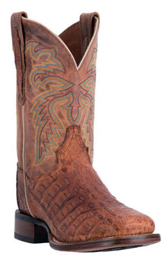 Dan Post Men's Denver Caiman Cowboy Boots - Square Toe, Cognac, hi-res