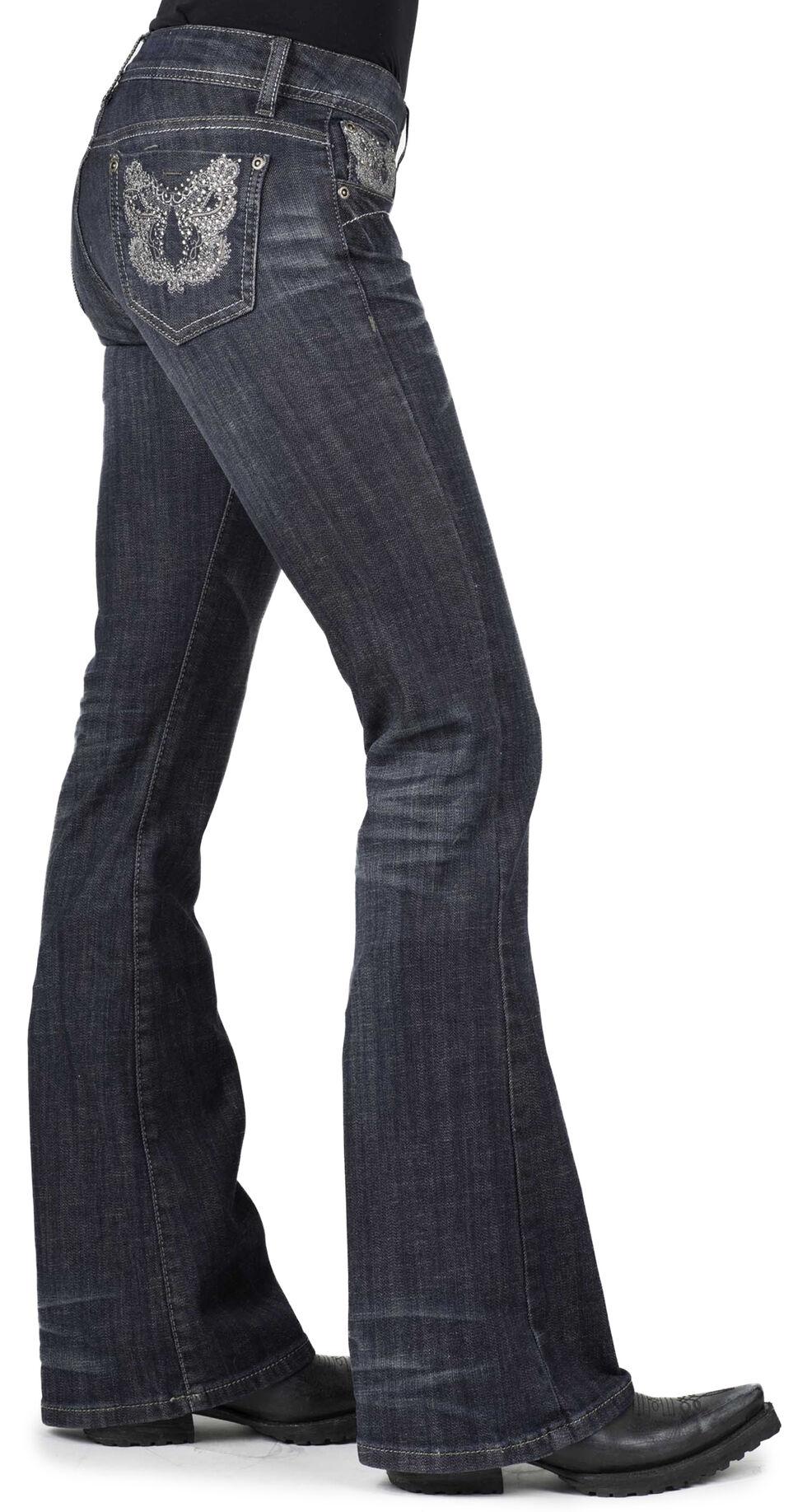 Stetson Women's 816 Metallic Stitch Jeans, Denim, hi-res