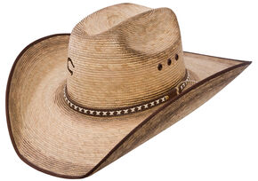 Charlie 1 Horse Comanche B 15X Straw Western Hat, Natural, hi-res