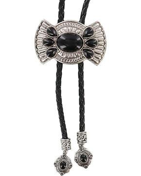 Shyanne Concho Bolo Tie Necklace, Black, hi-res
