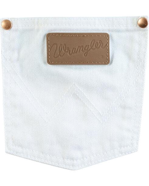 Wrangler Women's White Cowboy Cut Slim Fit Jeans - Tapered Leg, White, hi-res