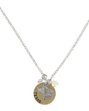 Shyanne Women's Left My Heart In Texas Necklace, Silver, hi-res