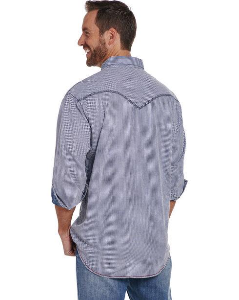 Cowboy Up Men's Vintage Wash Print Shirt , Blue, hi-res