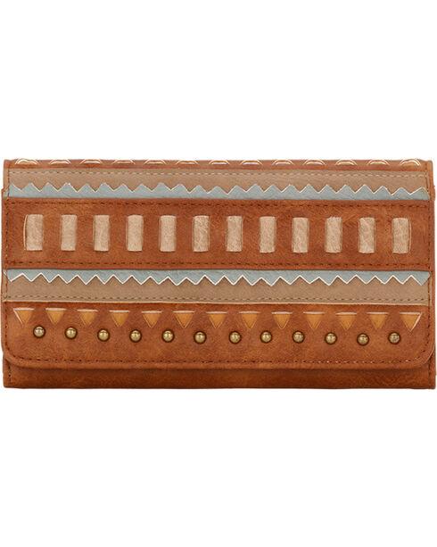 Bandana by American West Women's El Dorado Flap Wallet, Tan, hi-res