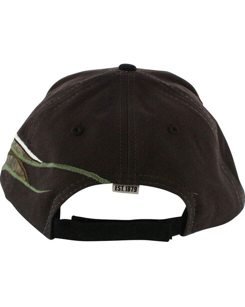Justin Men's Embroidered Camo Flame Ball Cap, Brown, hi-res