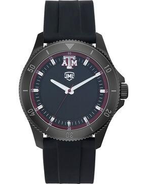 Jack Mason Men's Texas A&M Blackout Silicone Watch , Black, hi-res
