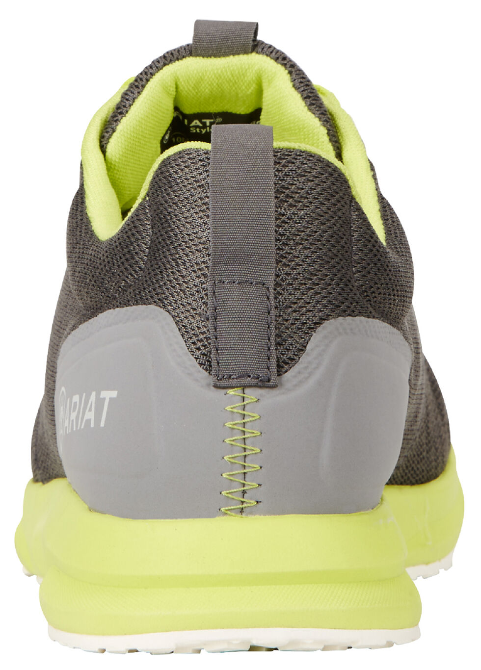 Ariat Men's Grey and Neon Fuse Athletic Shoes , Charcoal Grey, hi-res