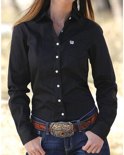 Cinch Women's Western Weave Pocket Shirt, , hi-res