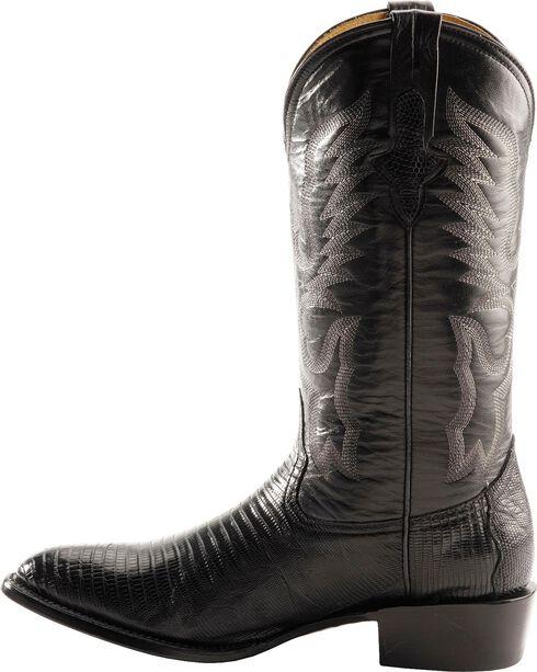 Ferrini Teju Lizard Cowboy Boots - Round Toe, Black, hi-res