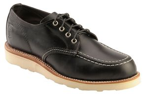 Chippewa Black Whirlwind Oxford Shoes, Black, hi-res