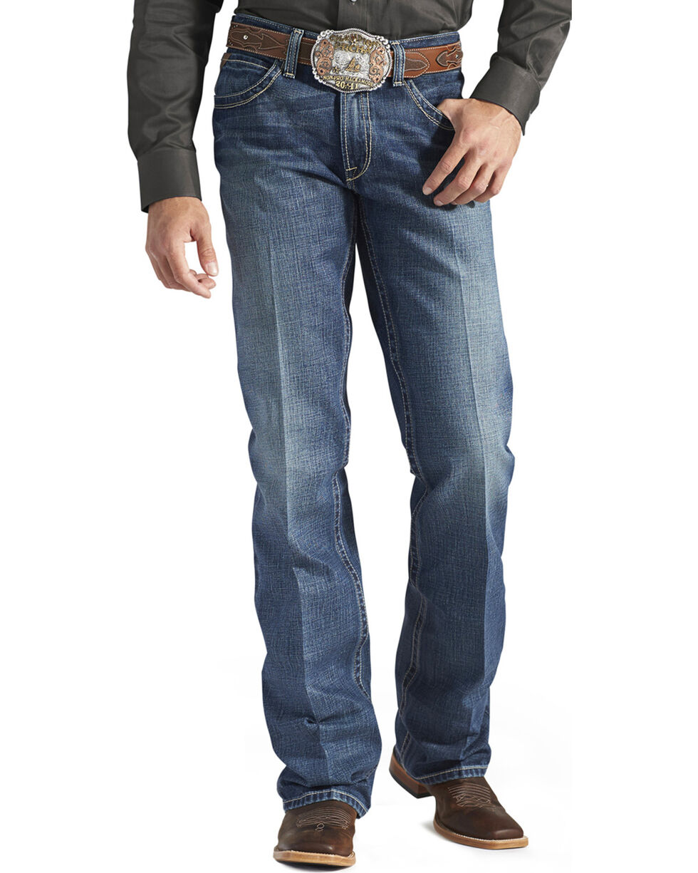 "Ariat Jeans - M4 Gulch Low Rise Bootcut - 38"" Inseam, Med Wash, hi-res"