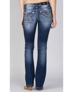 Miss Me Women's Indigo Wing Pocket Jeans - Boot Cut, Indigo, hi-res