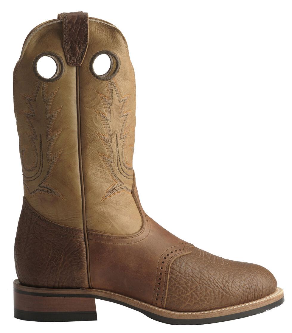 Boulet Super Roper Cowboy Boots - Round Toe, Bay Apache, hi-res