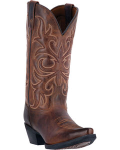 Laredo Maddie Distressed Cowgirl Boots  - Snip Toe, , hi-res