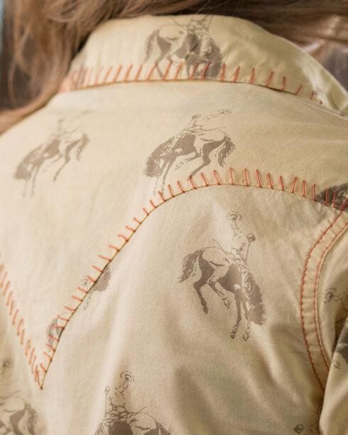 Ryan Michael Women's Yellow Bucking Horse Print Dress, Yellow, hi-res