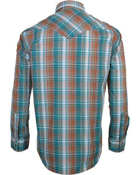Pendleton Men's Long Sleeve Plaid Western Shirt, Turquoise, hi-res