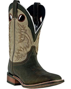 Laredo Collared Cowboy Boots - Square Toe, Brown, hi-res