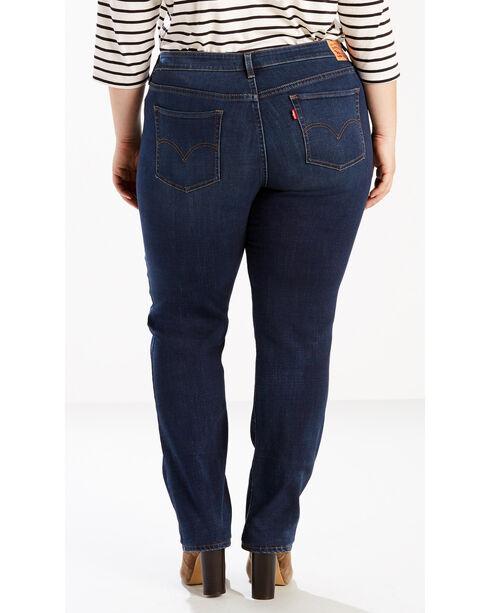 Levi's Women's 414 Straight Leg Jeans - Plus Size , Indigo, hi-res