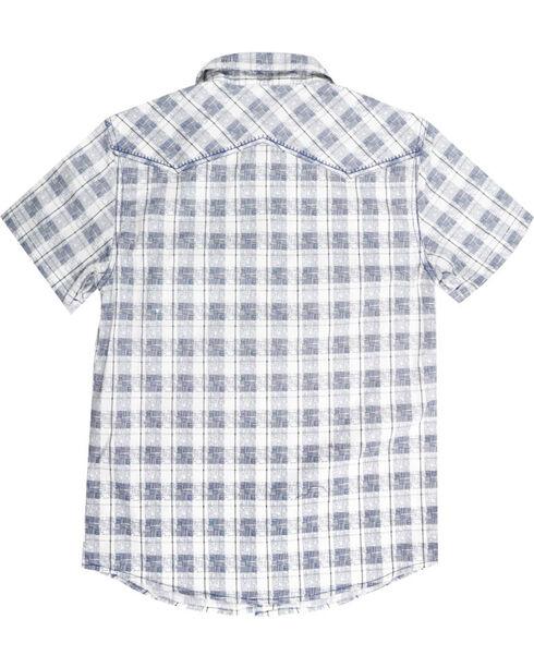 Cody James Men's Button Up Plaid Short Sleeve Shirt, White, hi-res