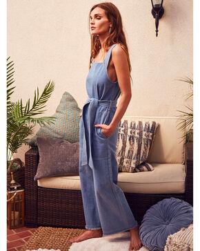 Sage the Label Women's Afton Overalls, Blue, hi-res