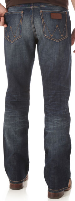 Wrangler Retro Men's Indigo Relaxed Boot Cut Jeans - Big and Tall, , hi-res