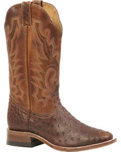 Boulet Antique Saddle Ostrich Boots - Square Toe, , hi-res