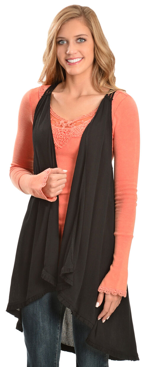 Others Follow Women's Giliana Knit Top, Coral, hi-res