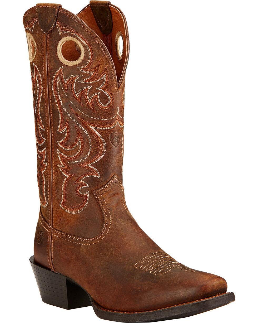 Ariat Men's Sport Cowboy Boots - Square Toe, Brown, hi-res